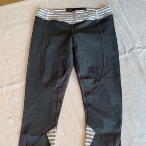 Lululemon Cropped Running Tights, size 8, Grey